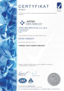 Certyfikat EN ISO 13485:2016